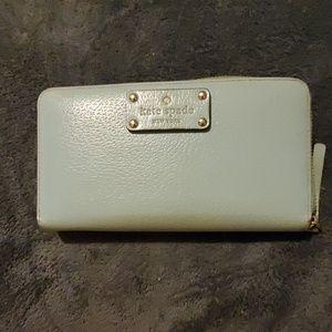 Kate spade robbins egg blue checkbook wallet
